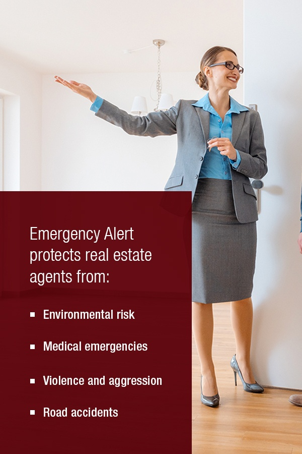how emergency alert protects real estate agents