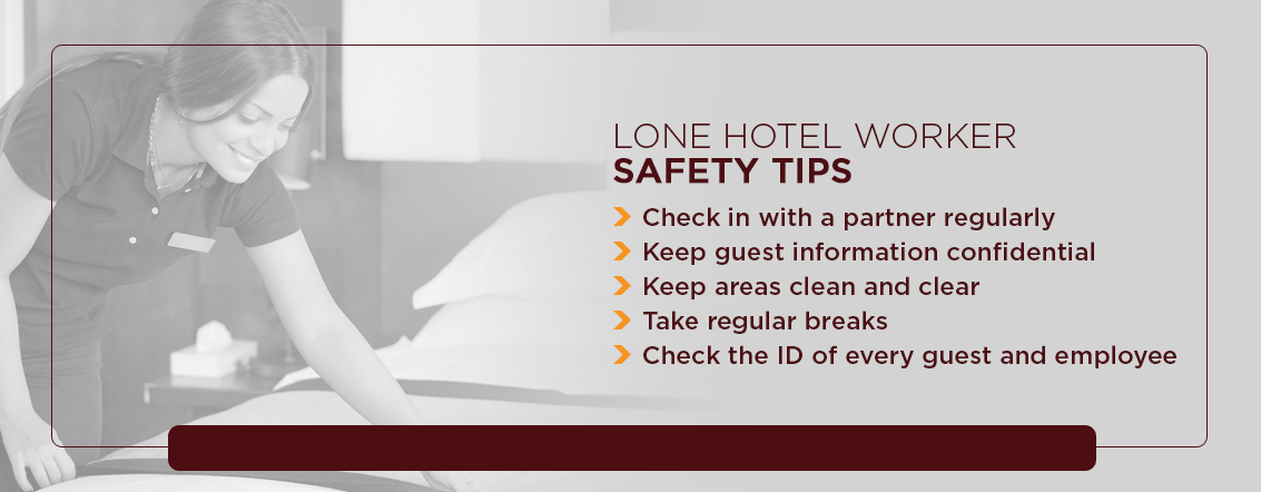 lone hotel worker safety tips