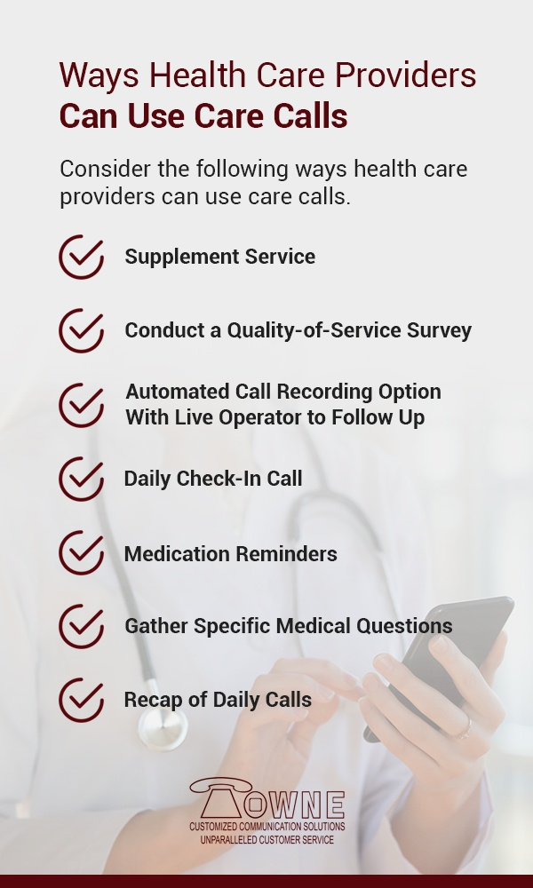 ways healthcare providers can use care calls