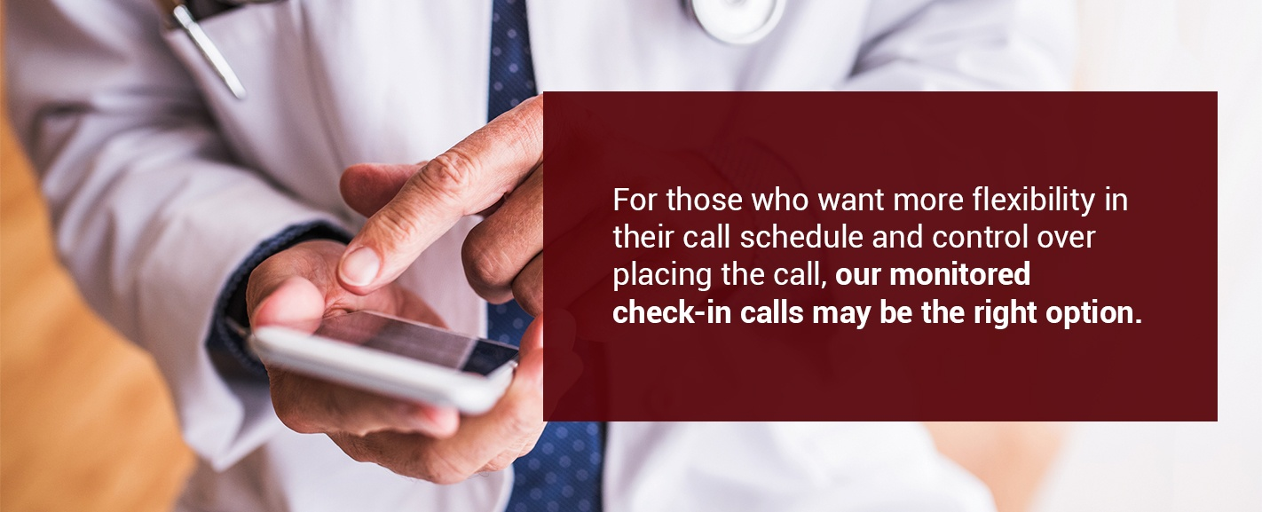 check-in calls for healthcare