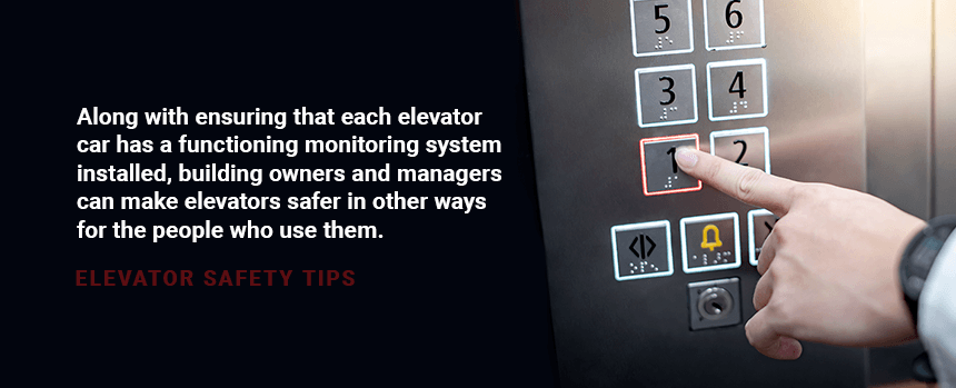 elevator safety tips