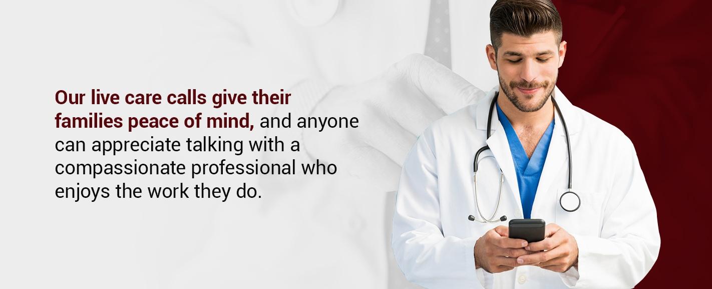 live care calls in healthcare